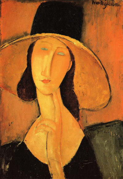 Amedeo Clemente Modigliani Portrait of a woman with hat