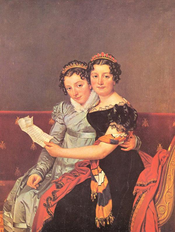 Jacques-Louis David Portrait of the daughters of Joseph Bonaparte