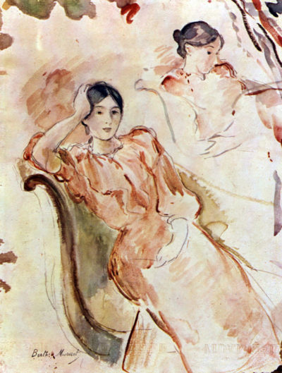 Berthe Morisot Portrait studies of Jeanne Pontillon
