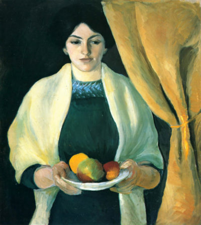 August Macke Portrait with apples (portrait of the wife of the artist)