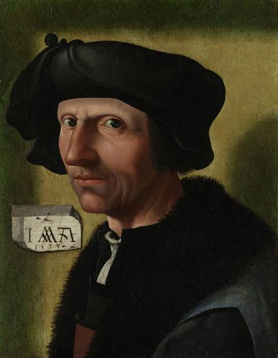 Jacob Cornelisz. van Oostsanen (atelier van) Portrait of Jacob Cornelisz van Oostsanen