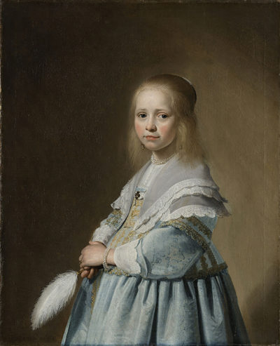 Johannes Cornelisz. Verspronck Portrait of a Girl Dressed in Blue