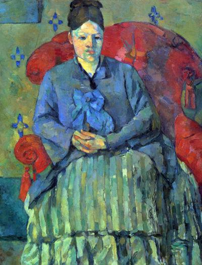 Paul Cézanne Potrait of Mme Cezanne in Red Armchair