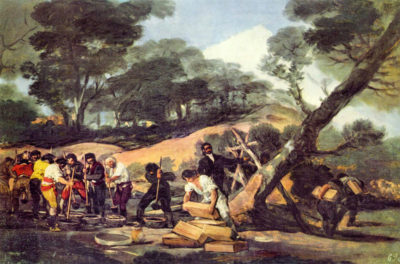 Francisco Goya Powder production in the Sierra de Tardienta