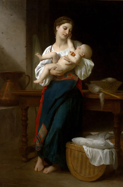 William-Adolphe Bouguereau Premires Caresses