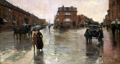 Childe Hassam Rainy Day in Boston