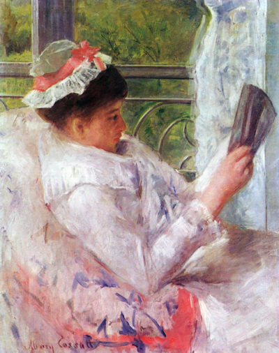 Mary Cassatt Reading Mrs. Lydia Cassat