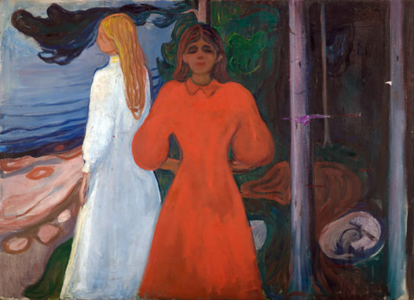 Edvard Munch Red and White