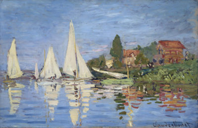 Claude Monet Regattas at Argenteuil