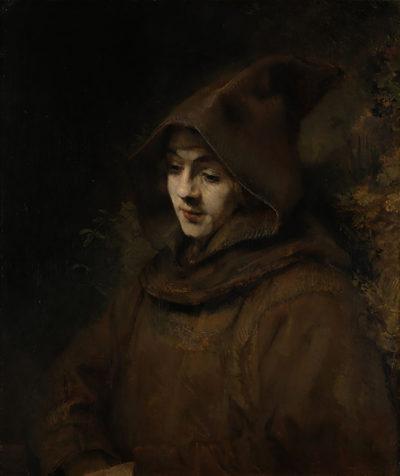 Rembrandt Harmensz. van Rijn Rembrandt's son in a monk's habit