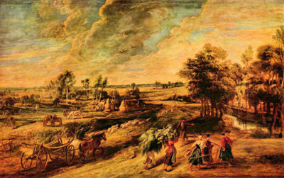 Peter Paul Rubens Return of the farmers from the field