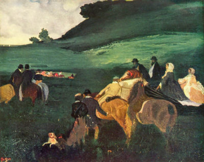 Edgar Degas Riders in the landscape
