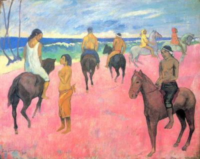 Paul Gauguin Riders on the beach