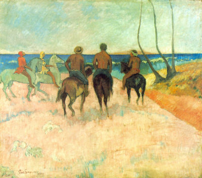Paul Gauguin Riders on the beach II