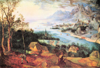 Pieter Bruegel River Landscape with a sower