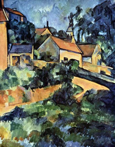 Paul Cézanne Road curve in Montgeroult