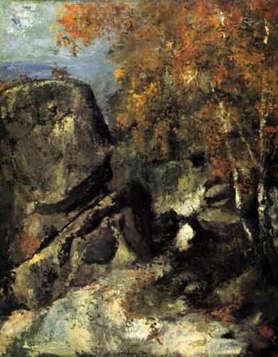Paul Cézanne Rocks in Fountanbleu Forest