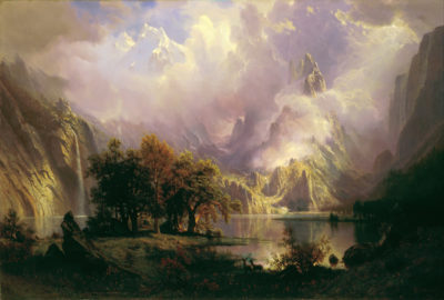 Albert Bierstadt Rocky Mountain landscape