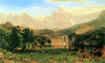 Albert Bierstadt Rocky Mountains at Lander's Peak