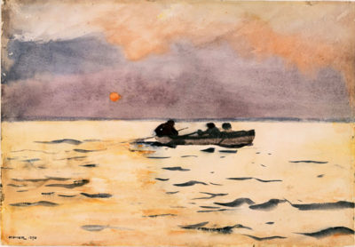Winslow Homer Rowing
