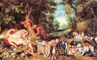 Peter Paul Rubens Satyrs and Hounds