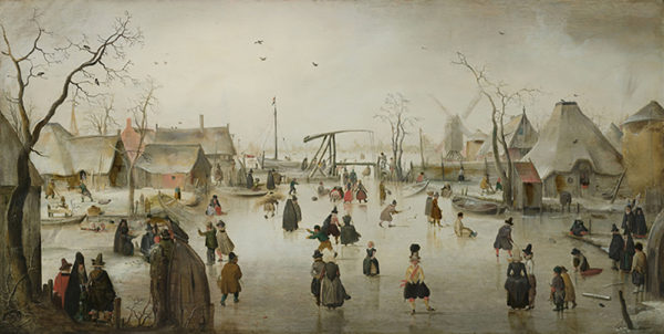 Hendrick Avercamp Ice-skating in a Village