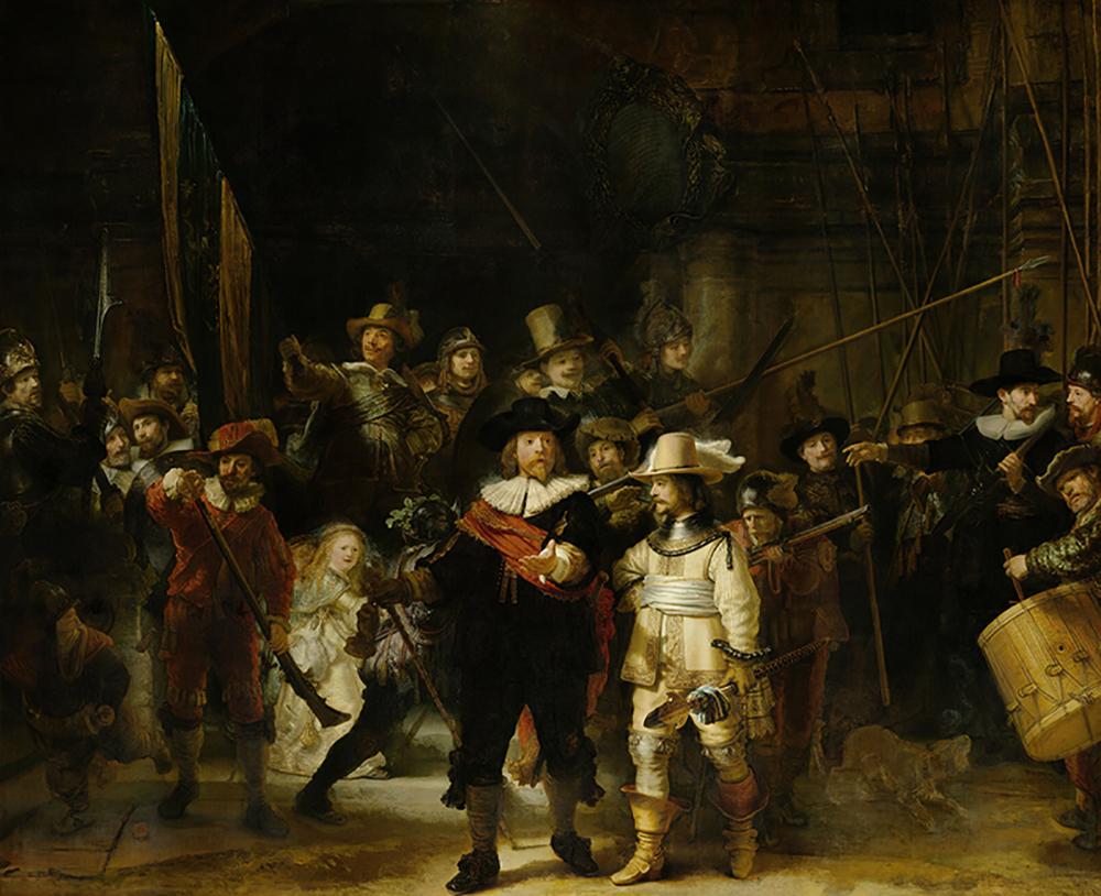 Rembrandt Harmensz. van Rijn Militia Company of District II under the Command of Captain Frans Banninck Cocq