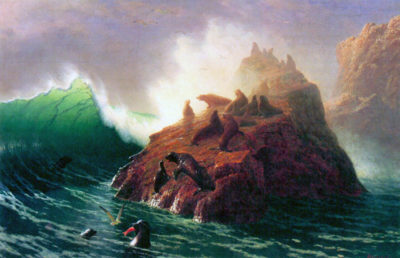 Albert Bierstadt Seal Rock