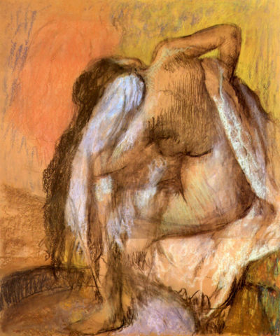 Edgar Degas Seated female nude drying neck and back