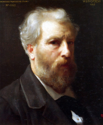 William-Adolphe Bouguereau Self-Portrait Presented To M Sage