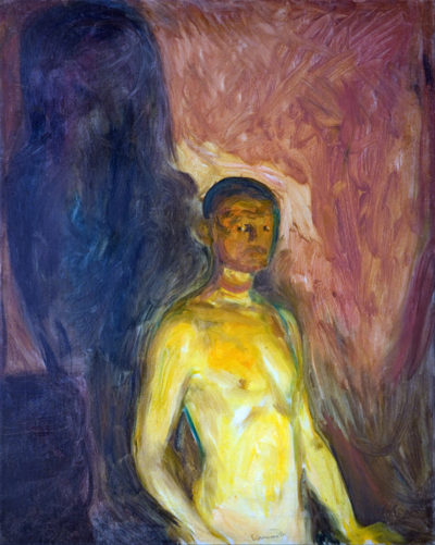 Edvard Munch Self-Portrait in hell