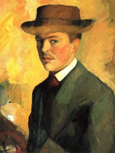 August Macke Self-Portrait with Hat