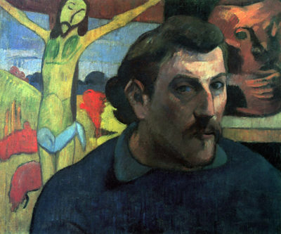 Paul Gauguin Self Portrait with Yellow Christ