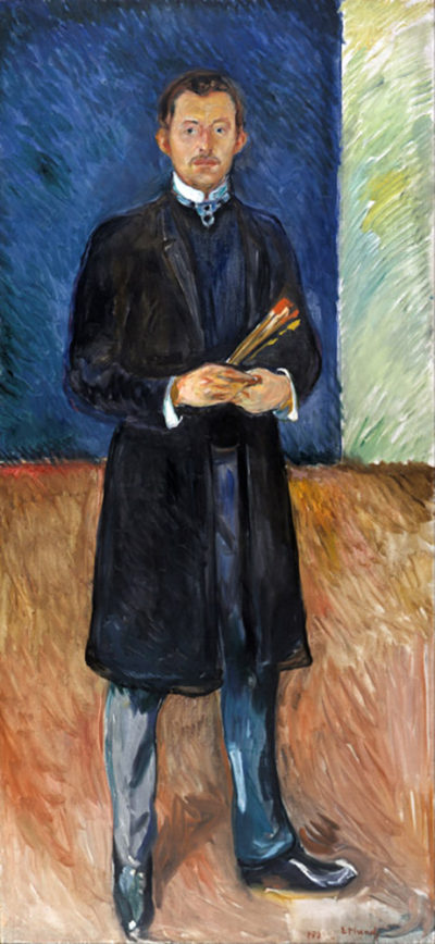 Edvard Munch Self-Portrait with brushes