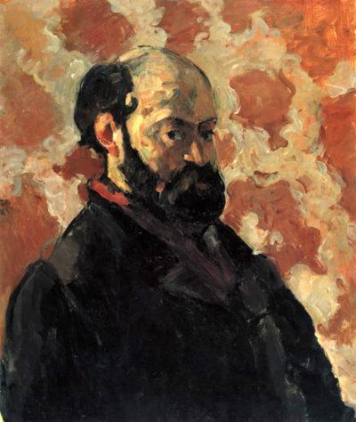 Paul Cézanne Self-portrait before Rose Background