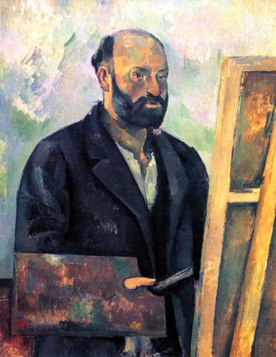 Paul Cézanne Self-portrait with Pallette