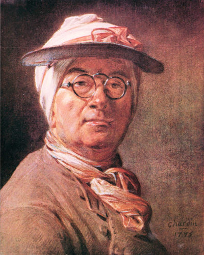 Jean Chardin Self-portrait with glasses