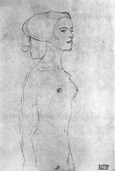 Gustav Klimt Semi-nude