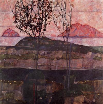 Egon Schiele Setting Sun