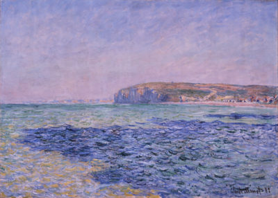 Claude Monet Shadows on the Sea - The Cliffs at Pourville