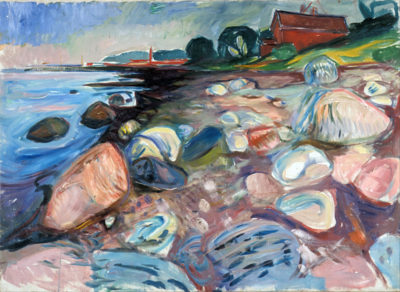 Edvard Munch Shore with Red House