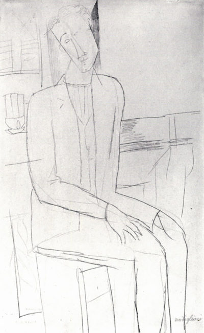 Amedeo Clemente Modigliani Sitting man