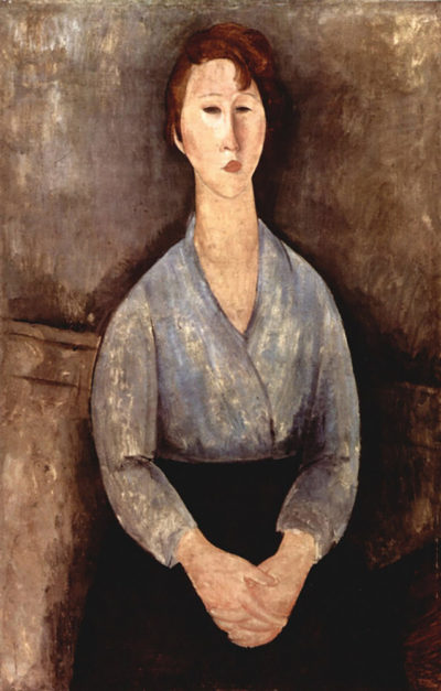 Amedeo Clemente Modigliani Sitting woman with blue blouse