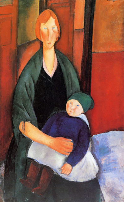 Amedeo Clemente Modigliani Sitting woman with child