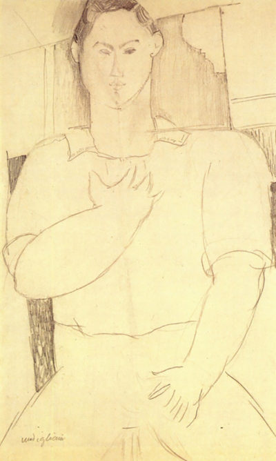 Amedeo Clemente Modigliani Sitting young man