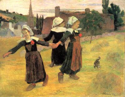 Paul Gauguin Small Breton Women