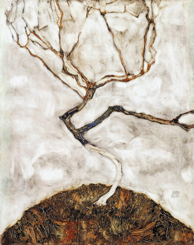 Egon Schiele Small Tree in Late Autumn
