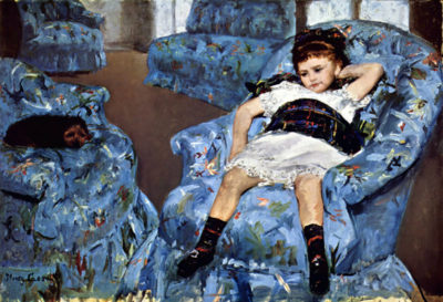 Mary Cassatt Small girl in the blue armchair