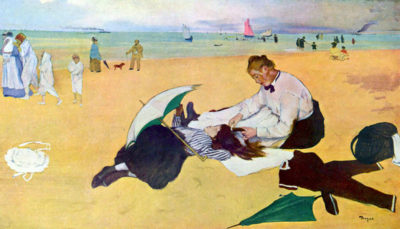 Edgar Degas Small girls on the beach