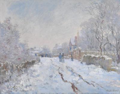Claude Monet Snow at Argenteuil